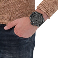 Diesel Little Daddy DZ7247 316L gunmetal PVD stainless steel 3ATM (30m) water resistant 4 Time zones (GMT)