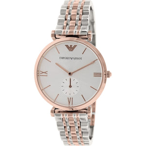 Emporio Armani Retro Silver Dial Two-Tone Watch AR1677