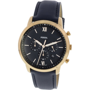 Fossil Neutra Chronograph Dial Navy Leather Men's Watch FS5454