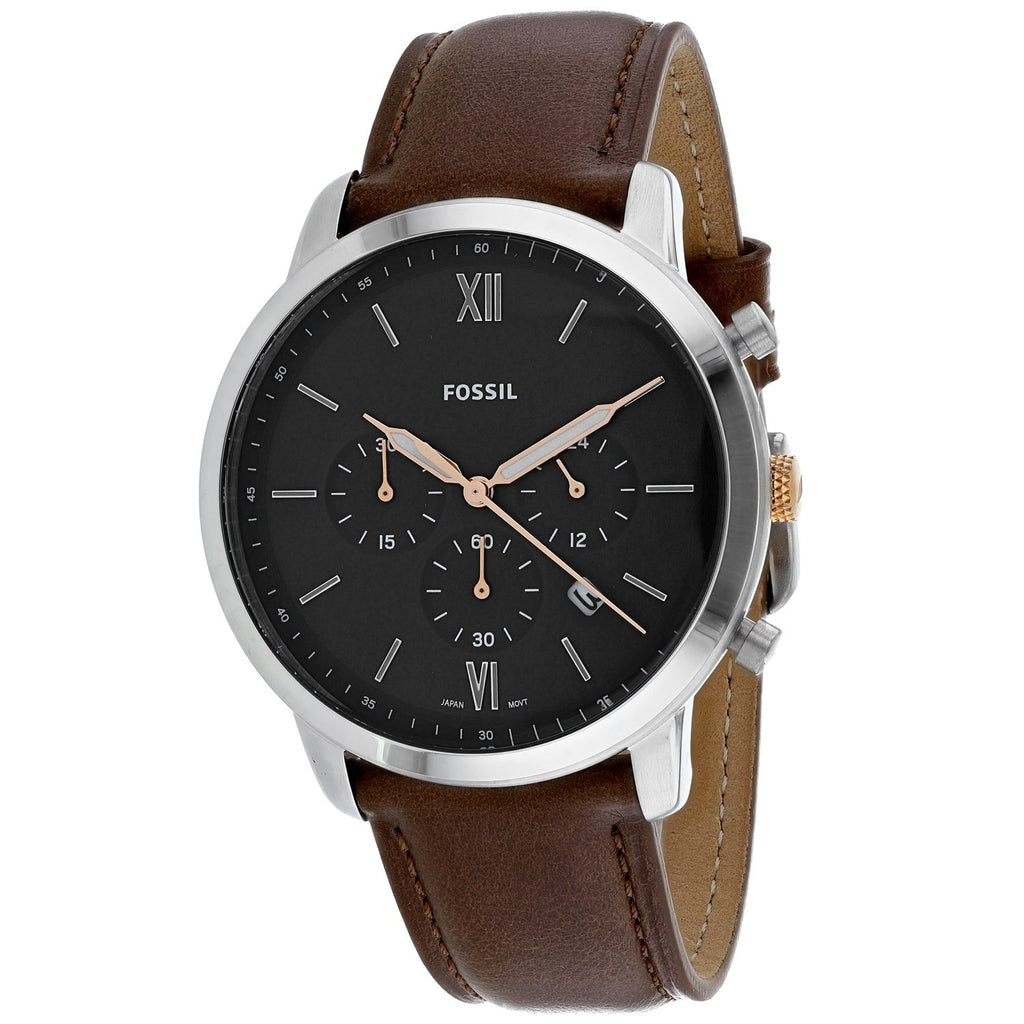 Fossil Neutra Chronograph Dial Light Brown Leather Men's Watch FS5408