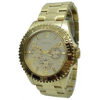 Guess Multi-Function Gold Dial Stainless Steel Watch W0231L2