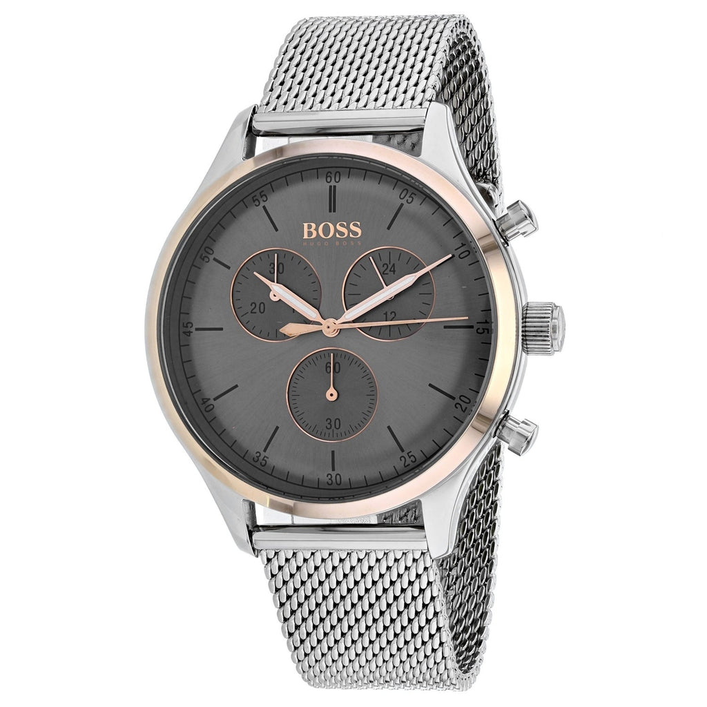 Hugo Boss Companion Chronograph Grey Dial Men's Watch 1513549 Water resistance: 50 meters Movement: Quartz