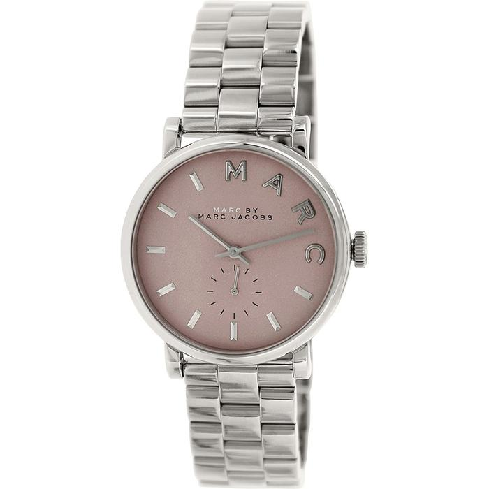 Marc Jacobs Baker Pink Dial Silver-Tone 36mm Ladies Watch MBM3280 - Big Daddy Watches