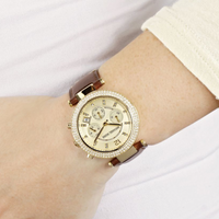Michael Kors Parker Chronograph Gold Dial Ladies Watch MK2249