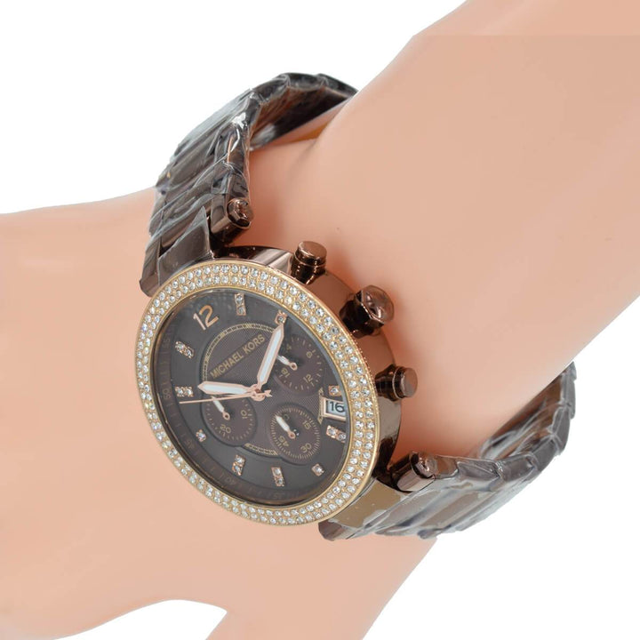 Michael Kors Parker Chronograph Chocolate Dial Ladies Watch MK5578