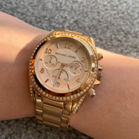 Michael Kors Slim Runway Rose Gold Dial Ladies Watch MK3181
