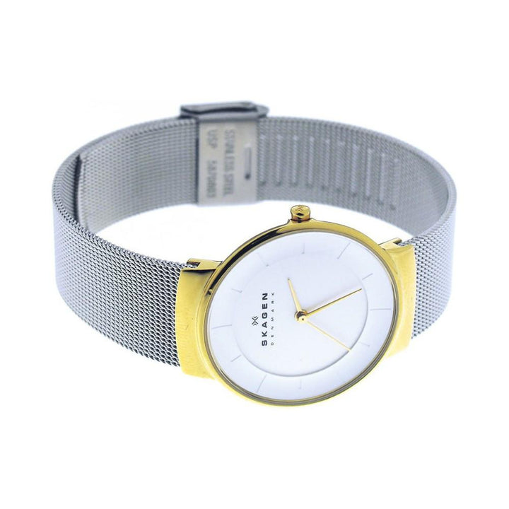 Skagen Klassik White Dial Stainless Steel Mesh Ladies Watch SKW2076