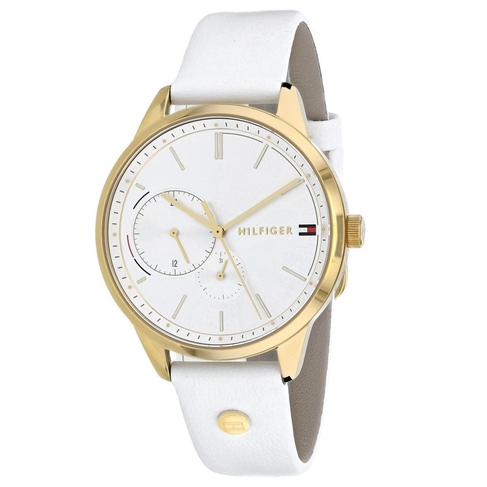 Tommy Hilfiger Brooklyn Silver Dial Leather Strap Ladies Watch 1782018