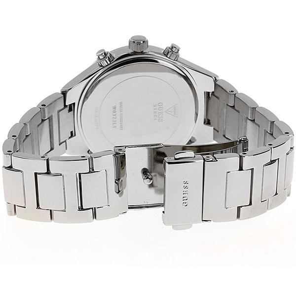Guess Riviera Silver Dial Stainless Steel Ladies Watch W0323L1