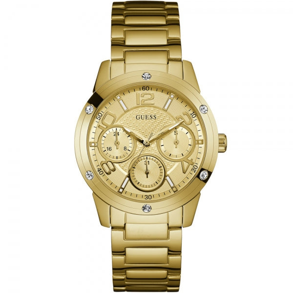 Guess Gold-Tone Stainless Steel Watch W0778L2