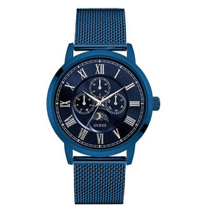 Guess Blue Dial Stainless Steel Mesh Men's Watch W0871G3
