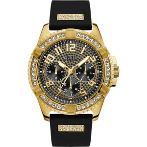 Guess Crystal-Covered Dial Silicone Strap Men's Watch W1132G1