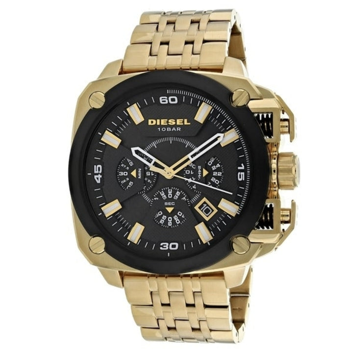 Diesel Big Daddy DZ7378 316L gold stainless steel 100m water-resistant