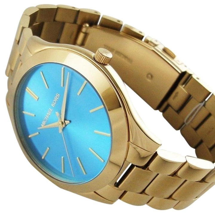 Michael Kors Slim Runway Gold Tone Stainless Steel Ladies Watch MK3265