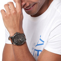 Diesel Big Daddy DZ7413 316L gunmetal stainless steel 3ATM (30m) water resistant 4 Time zones (GMT)