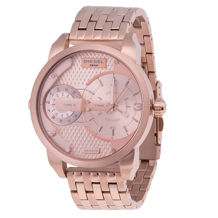 Diesel Mini Daddy DZ7318 316L rose-gold stainless steel 3ATM (30m) water resistant Dual time zones (GMT)