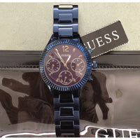 Guess Riviera Blue Dial Stainless Steel Ladies Watch W0323L4
