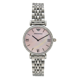 Emporio Armani Pink Mother of Pearl Dial Ladies Watch AR1779