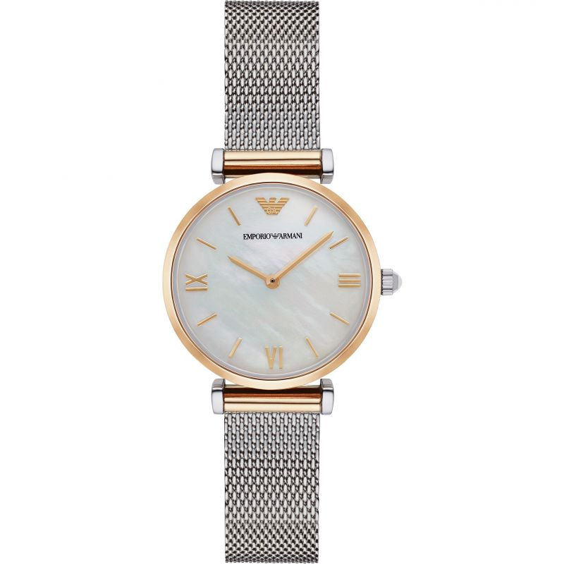 Emporio Armani Mother of Pearl Dial Ladies Watch AR2068