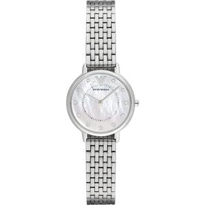 Emporio Armani Mother of Pearl Dial Silver Tone Ladies Watch AR2511