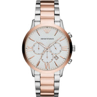 Emporio Armani Giovanni Chronograph White Dial Men's Watch AR11209 - Big Daddy Watches