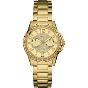 Guess Gold Dial Stainless Steel Ladies Watch W0705L2