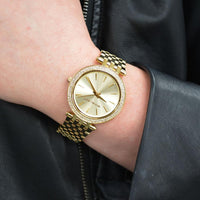 Michael Kors Darci Glitz Gold Dial Ladies Watch MK3191 Water resistance: 50 meters / 165  Movement: Quartz