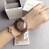 Michael Kors Blair Chronograph Brown Dial Ladies Watch MK5493