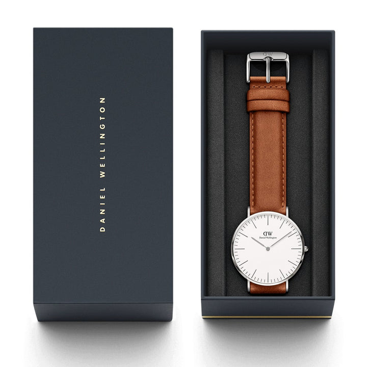 Daniel Wellington Classic Durham 40mm Men's Silver Watch DW00100110