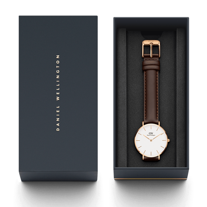 Daniel Wellington Petite Bristol 32mm Women's Gold Watch DW00100171