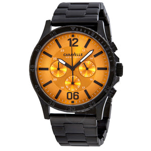 Caravelle By Bulova Chronograph Orange Dial Men's Watch 45A108