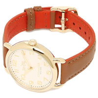 Coach Delancey White Dial Brown Leather Strap Ladies Watch 14502561