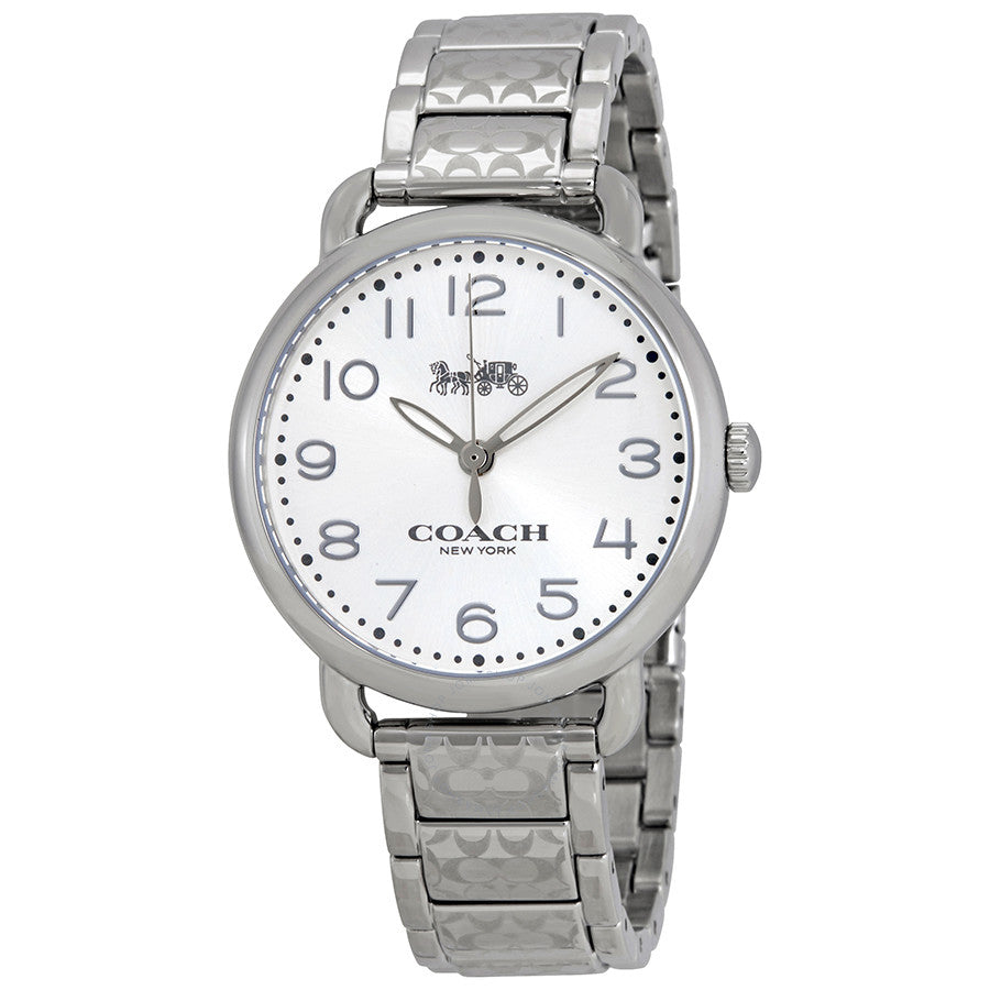 Coach Delancey Silver Dial Stainless Steel Ladies Watch 14502495