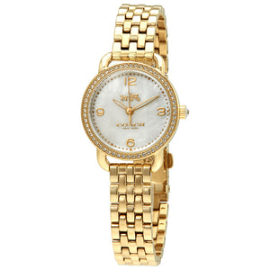 Coach Delancey Mother of Pearl Dial Gold Tone Ladies Watch 14502478