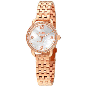 Coach Delancey Mother of Pearl Dial Rose Gold-Tone Ladies Watch 14502479