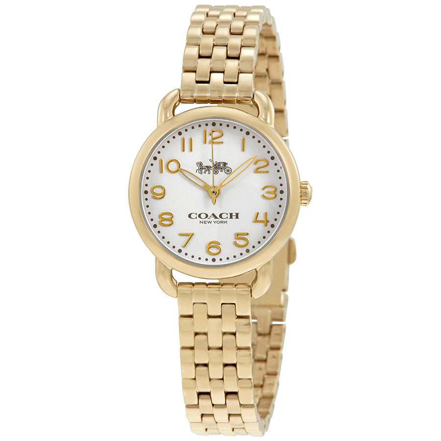 Coach Delancey White Dial Ladies Gold Tone Watch 14502241