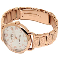 Coach Delancey Silver Dial Rose Gold-tone Ladies Watch 14502497