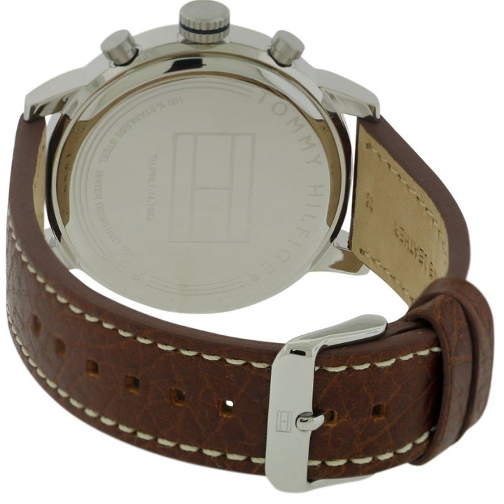 Tommy Hilfiger Beige Dial Leather Strap Men's Watch 1791230