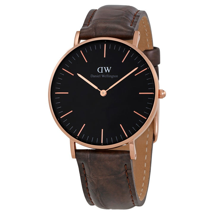 Daniel Wellington Black Classic York 36mm Women's Gold Watch DW00100140 - Big Daddy Watches