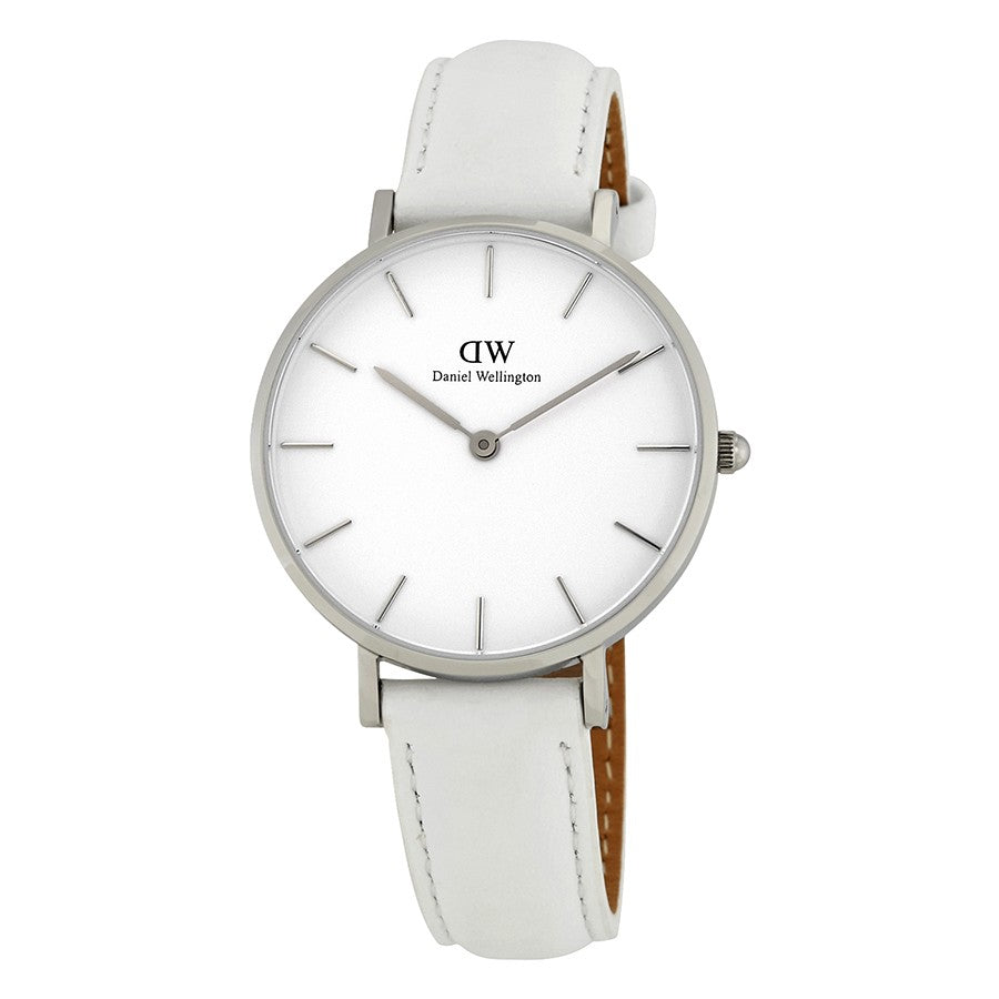 Daniel Wellington White Classic Petite Bondi 32mm Women's Silver Watch DW00100190 - Big Daddy Watches