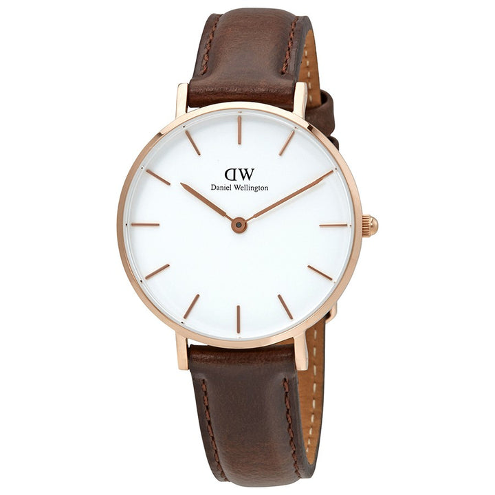 Daniel Wellington White Classic Petite Bristol 32mm Women's Gold Watch DW00100171 - Big Daddy Watches