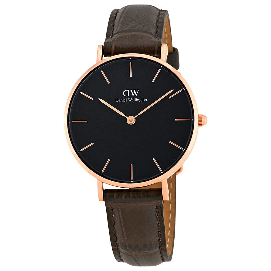 Daniel Wellington Black Classic Petite York 28mm Women's Gold Watch DW00100170 - Big Daddy Watches