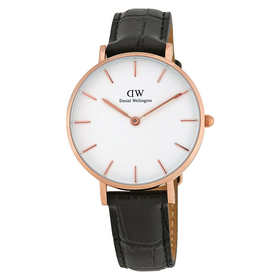 Daniel Wellington White Classic Petite Reading 32mm Women's Gold Watch DW00100173 - Big Daddy Watches