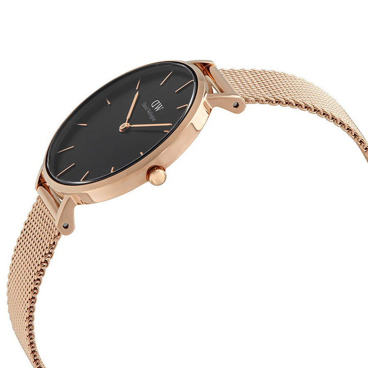 Daniel Wellington Black Classic Petite Melrose 32mm Women's Gold Watch DW00100161 - Big Daddy Watches
