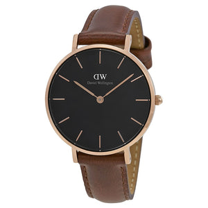 Daniel Wellington Black Classic Petite St Mawes 28mm Women's Gold Watch DW00100169 - Big Daddy Watches