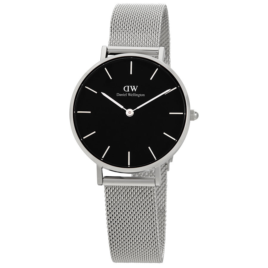 Daniel Wellington Black Classic Sterling 28mm Women's Silver Watch DW00100162
