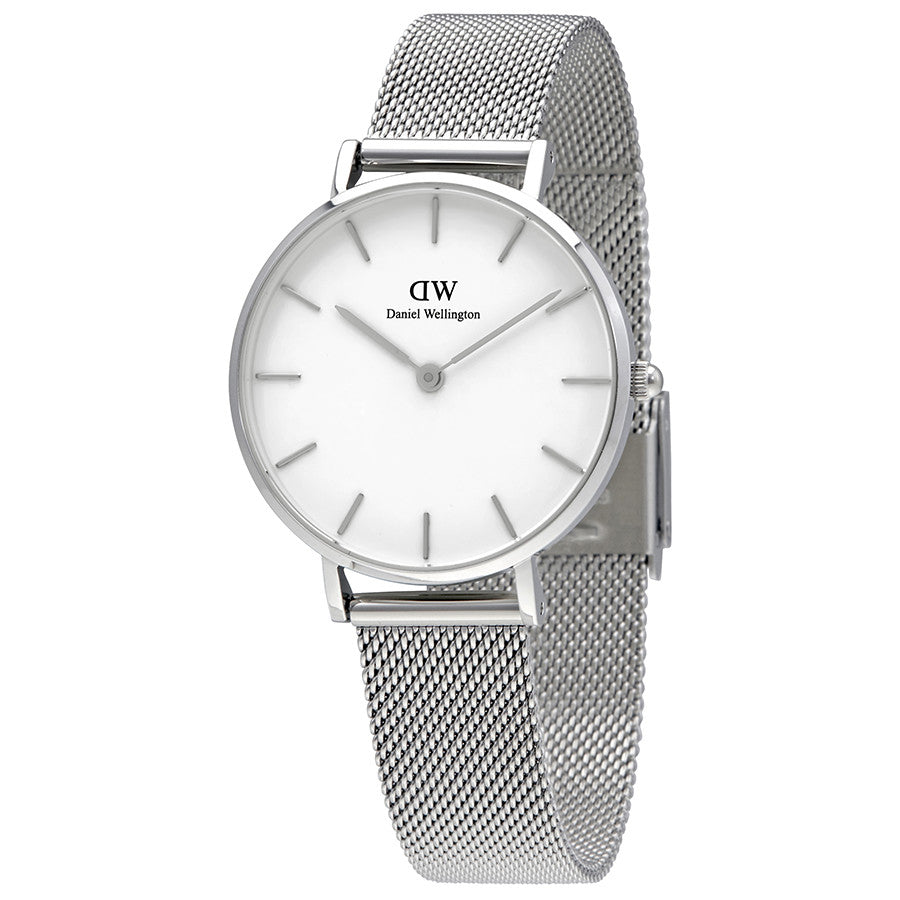 Daniel Wellington White Classic Sterling 28mm Women's Silver Watch DW00100162