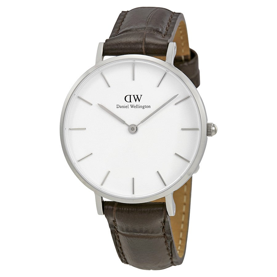 Daniel Wellington Classic York 32mm Women's Silver Watch