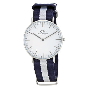 Daniel Wellington Classic Glasgow 36mm Women's Silver Watch DW00100047 - Big Daddy Watches