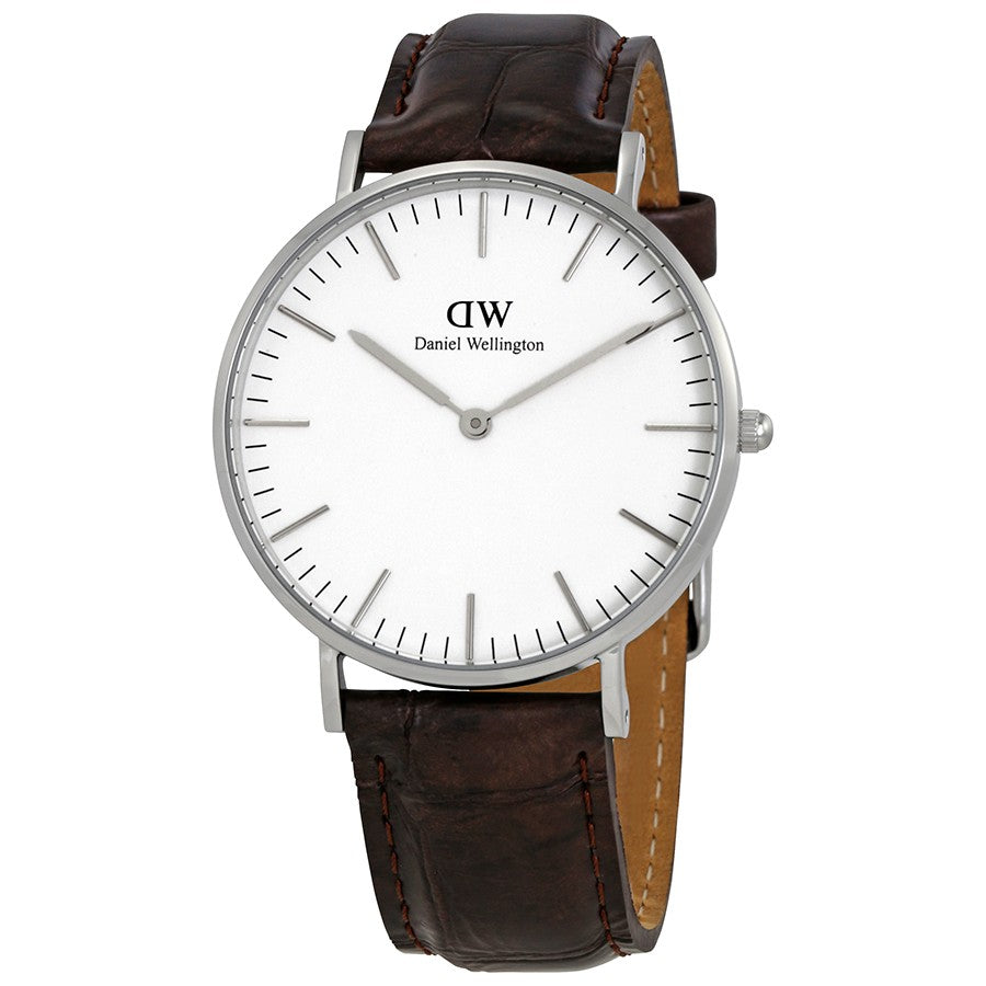 Daniel Wellington Classic York 36mm Women's Silver Watch